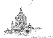 Croquis-Normandie-La-basilique-de-Lisieux-